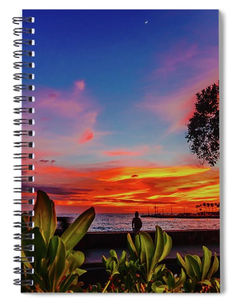 After Sunset Colors Spiral Notebook