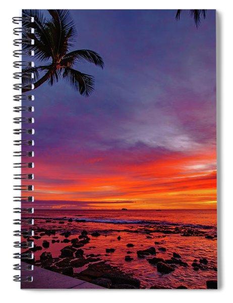 After Sunset Vibrance Spiral Notebook