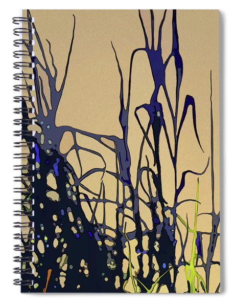 Spiral Notebook featuring the digital art Afternoon Shadows by Gina Harrison