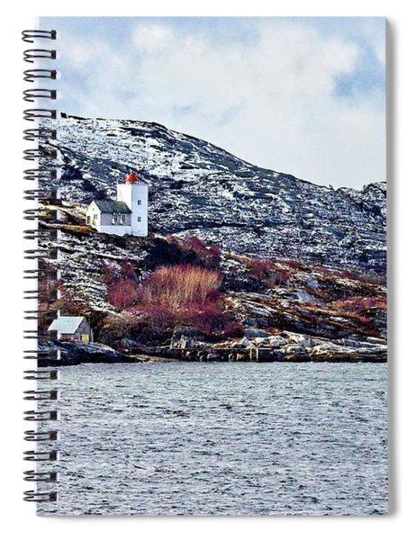 Agdenes Lighthouse And Ringflua Light Norway Spiral Notebook