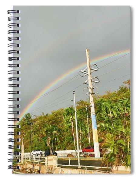 Aguadilla Rainbow Spiral Notebook