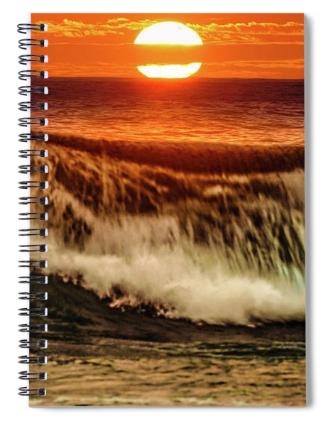 Ahh.. The Sunset Wave Spiral Notebook