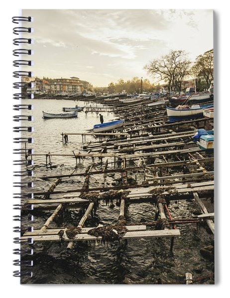 Ahtopol Fishing Town Spiral Notebook