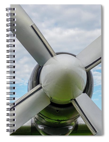 Spiral Notebook featuring the photograph Aircraft Propellers. by Anjo Ten Kate