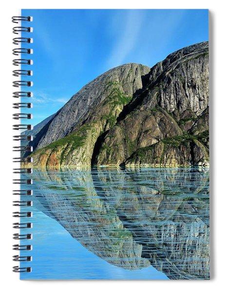 Alaska Rock Reflection Spiral Notebook
