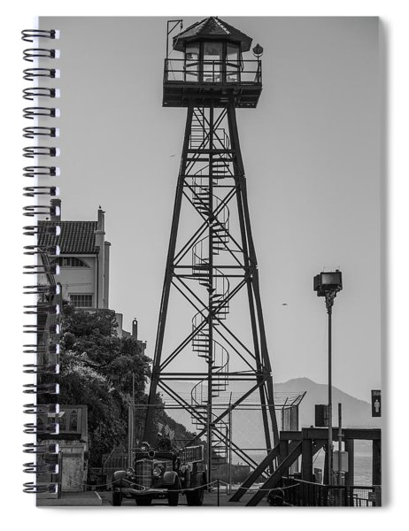 Alcatraz Light House Spiral Notebook