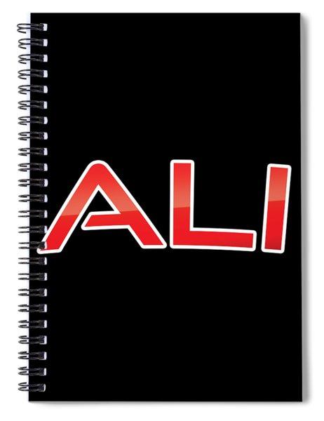 Ali Spiral Notebook