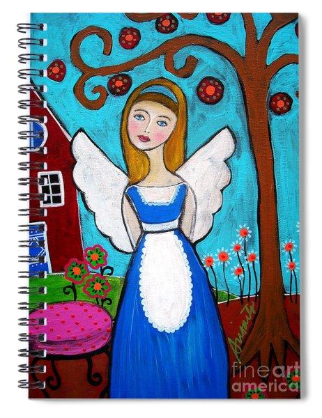 Alice In Wonderland Angel Spiral Notebook