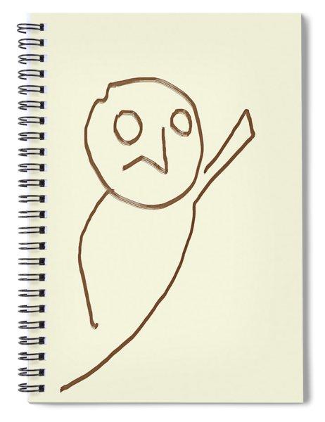 Alien Face Line Art 01 Spiral Notebook