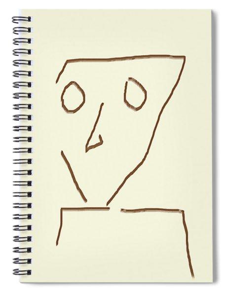 Alien Face Line Art 04 Spiral Notebook