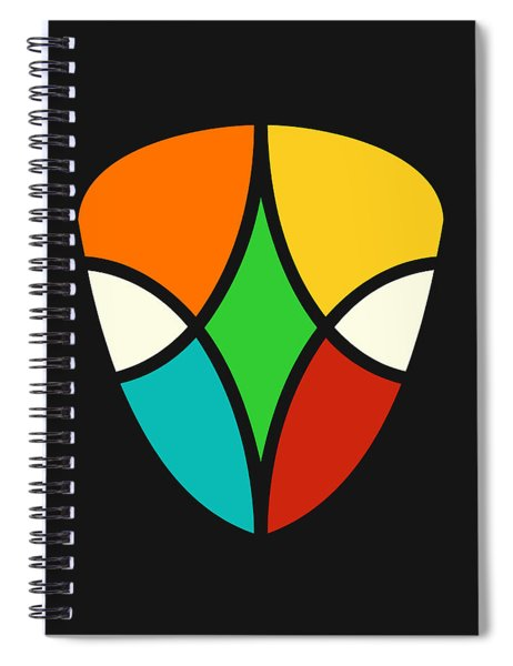 Alien Falcon Spiral Notebook