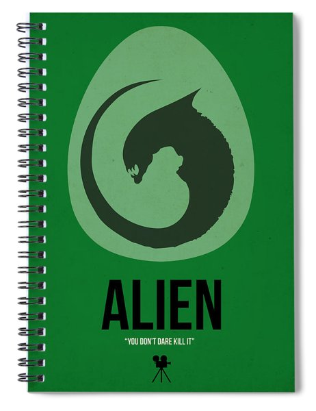 Alien Spiral Notebook