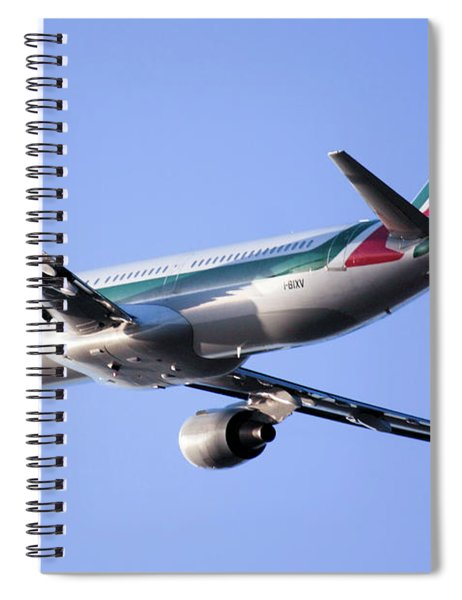 Alitalia Commercial Flight E2 Spiral Notebook