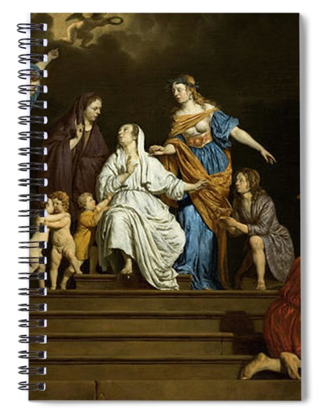 Allegory, Innocence Between Virtues And Vices Spiral Notebook