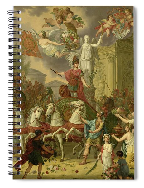 Allegory Of The Triumphal Procession Of The Prince Of Orange, As The Hero Of Waterloo, 1815 Spiral Notebook