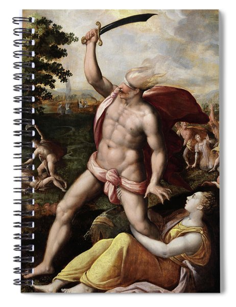Allegory Of Wrath Spiral Notebook
