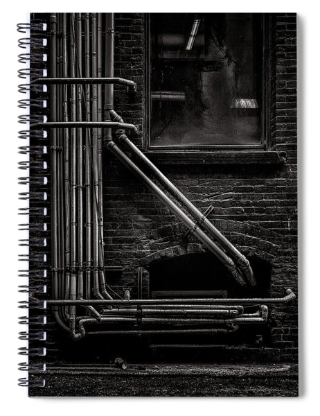 Alleyway Pipes No 2 Spiral Notebook
