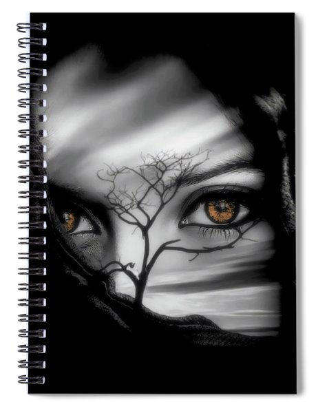 Spiral Notebook featuring the digital art Allure Of Arabia by ISAW Company