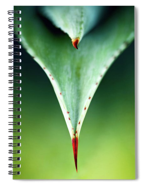 Aloe Thorn And Leaf Macro Spiral Notebook