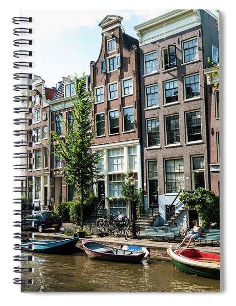 Along An Amsterdam Canal Spiral Notebook