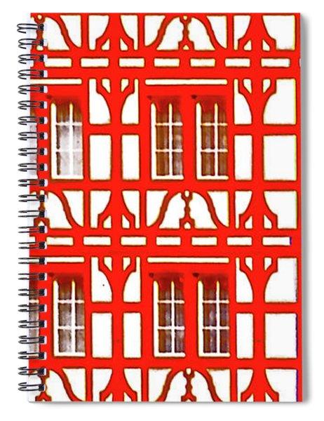Altstadt  Old Town Lucerne Swiss Windows  Spiral Notebook