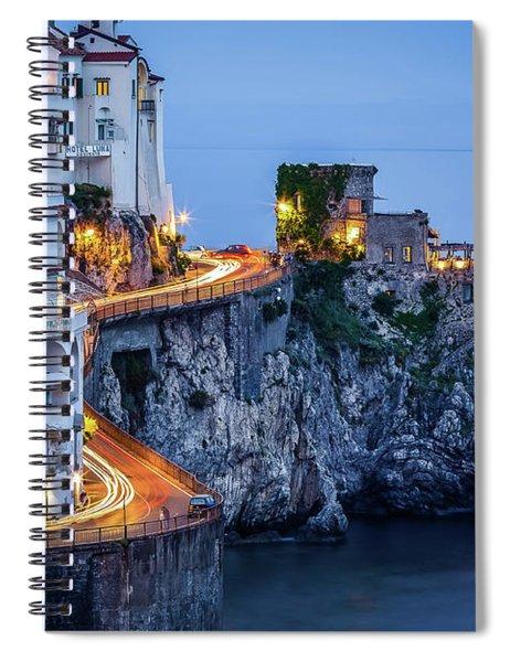Amalfi Coast Italy Nightlife Spiral Notebook