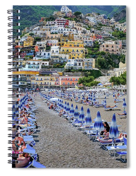 The Colorful Beaches And Village Of Amalfi Italy Spiral Notebook