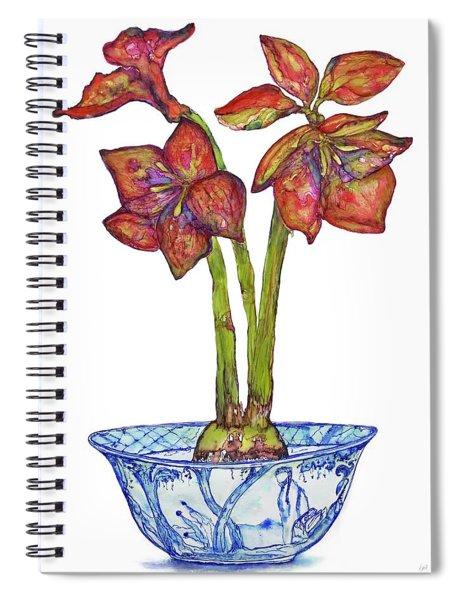 Amaryllis In Chinoiserie Spiral Notebook