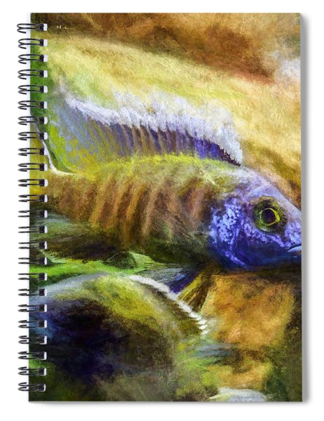 Amazing Peacock Cichlid Spiral Notebook