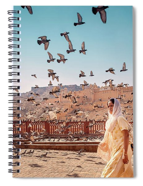 Amber Fortress Spiral Notebook
