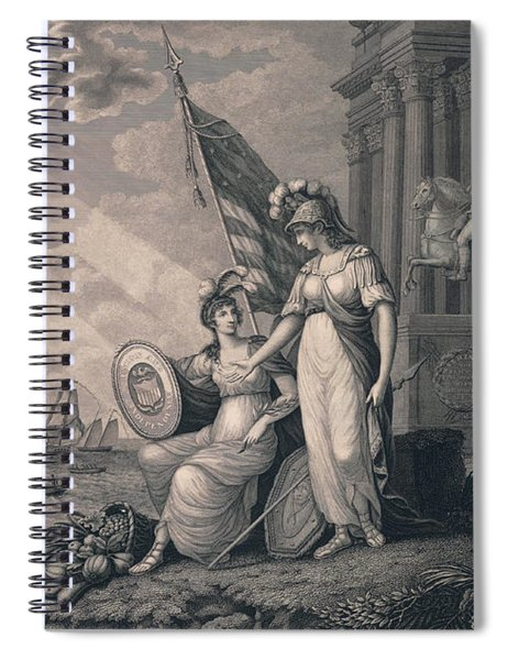 America Guided By Wisdom Spiral Notebook