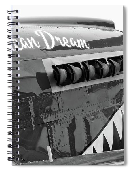 American Dream In Black And White Spiral Notebook