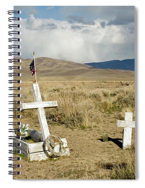 American Flag Grave Spiral Notebook