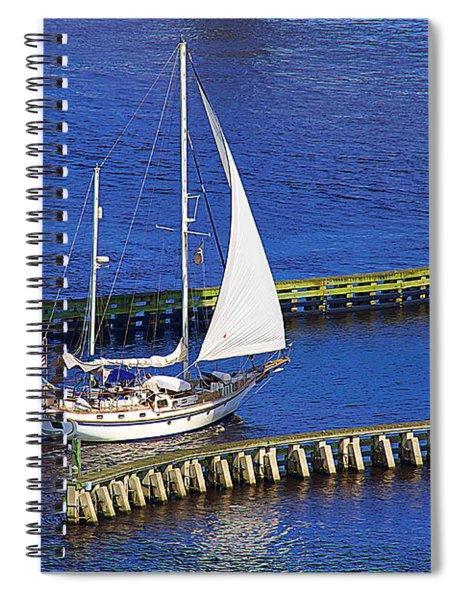American Flag Under The Bridge Spiral Notebook