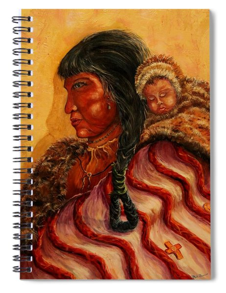 American Indian Mother And Child Spiral Notebook