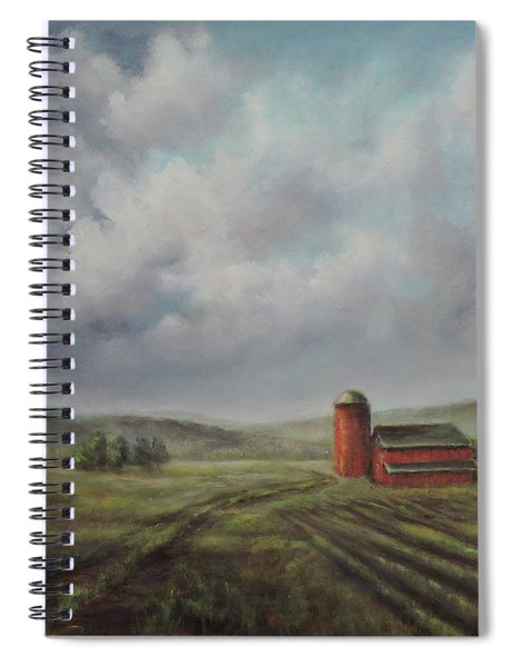 American Scene Red Barn  Spiral Notebook