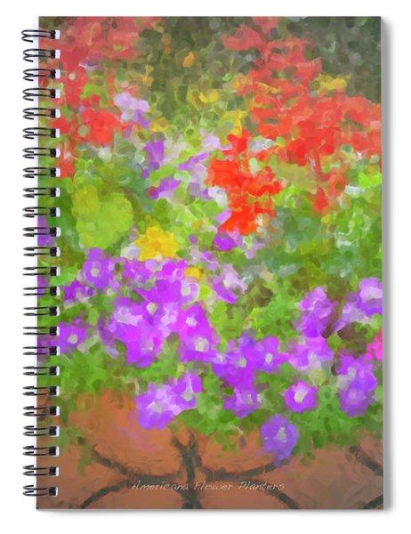 Americana Flower Planters Spiral Notebook