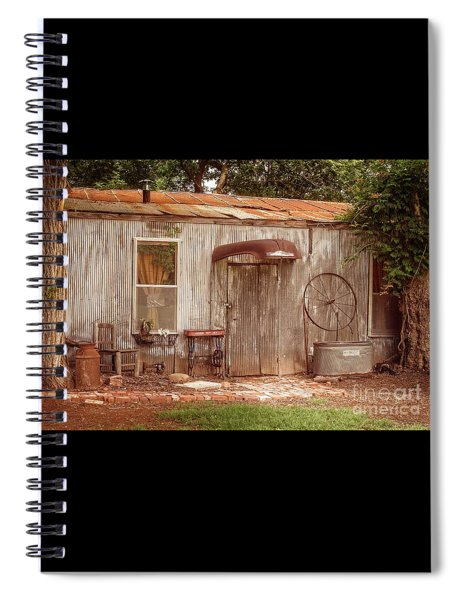 Americana Metal Shed  Spiral Notebook