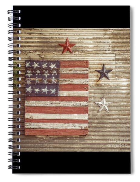 Americana Stars And Stripes  Spiral Notebook