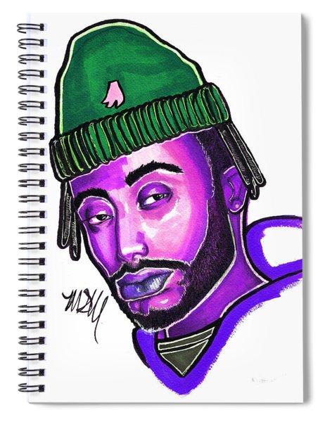 Amine Purple Spiral Notebook