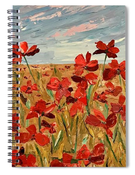 Among The Poppies.   2 Of 2 Spiral Notebook