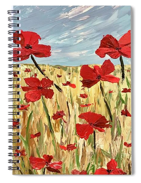 Among The Poppies     1 Of 2 Spiral Notebook