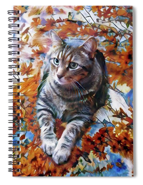Amos In Flowers Spiral Notebook