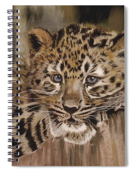 Amur Leopard Cub Spiral Notebook