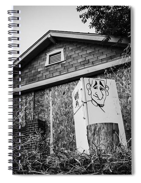 An Abandoned Home With A Personality  Spiral Notebook