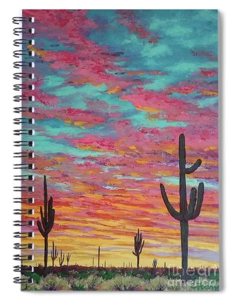 An Arizona Sunset  Spiral Notebook
