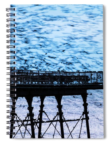 An Explosion Of Starlings  Spiral Notebook