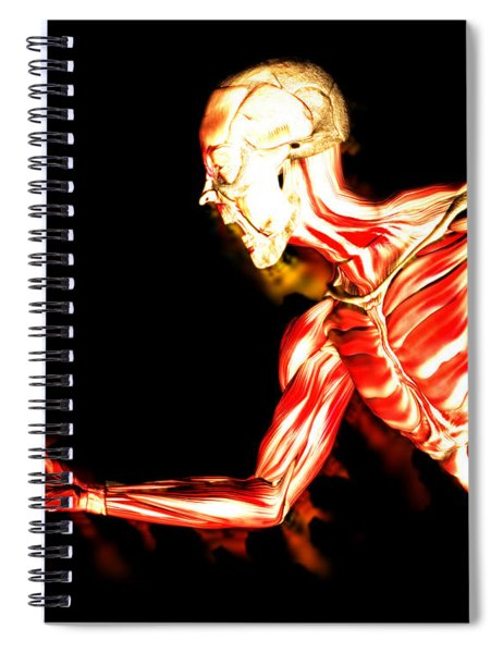 An Image Of A Man Without Any Skin, With His Muscles Exposed A Suitable Image For Halloween. - Illus Spiral Notebook