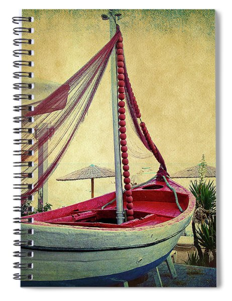 an Old Boat Spiral Notebook