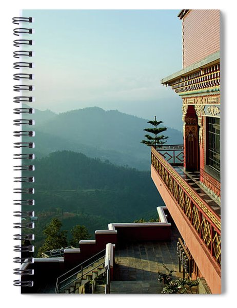 Ancient Buddhist Monastery In Nepal Spiral Notebook